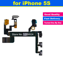 High Quality for iPhone 5S Power Mute Volume Button Switch Connector On Off Flex Cable Ribbon Mobile Phone Replacement Parts