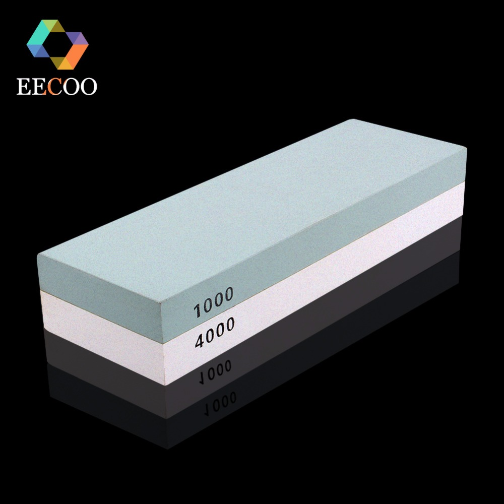 EECOO Professional Knife Sharpener Honing Stone Diamond Whetstone Sharpening System Grinding Stones Kitchen Tools 1000# 4000#(China)