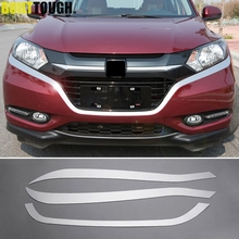 For Honda Vezel HR-V HRV 2014 2015 2016 2017 Chrome Front Hood Grille Grill Lip Cover Trim Bumper Protector Molding Car Styling(China)