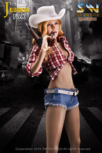 "Estartek SW Our World 1/6 Jessica Fox Cowboy Jeans Set Cowgirl Indiana Jones 12"" Collectible Action Figure(China)"