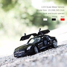 Best of Supercars-SLS AMG of Three Colors, Nascar 1:24 Diecast Cars for Collectible Alloy Models and Toys