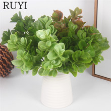 Simulation holly leaves fern fake green plant botanical wall decor wedding decoration for home hotel office table accessories