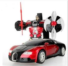 RC Cars Transformation Robots Remote Control Transform Toy Light Sound Dance Electric Car Models Boy Birthday Gift Action Toy