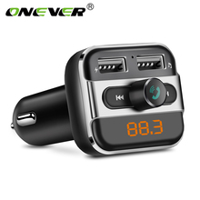 Onever Bluetooth FM Transmitter Wireless Audio Modulator Handsfree Car Kit Support USB Flash Drive SD Card Car MP3 Player Charge(China)