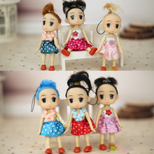 2Pcs/Set Cartoon Interactive Toy Dress Dream Girl Confused Doll Fashion Doll Phone Pendant Christmas Wedding Gifts For Children(China)