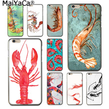 Buy MaiYaCa Animal sketch oil painting color shrimp Colorful Phone Accessories Case Apple iPhone 8 7 6 6S Plus X 5 5S SE 5C for $1.43 in AliExpress store