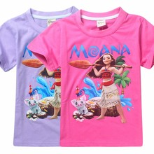 2017 New design 5 pcs/lot Moana Cartoon boys girls short sleeve summer t shirt boy girl t-shirt tee tees kids childrens tops