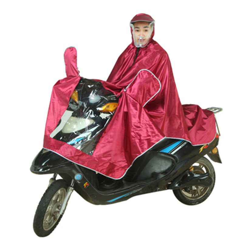 Battery Car Raincoat Motorcycle Waterproof Poncho Transparent  Double Brim Single Raincoat Men Raincoat Women
