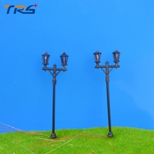 Teraysun 20pcs new architectual scale model ABS plastic courtyard lampost light for model train layout street lamp.model light
