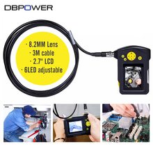DBPOWER 8.2mm 3 Meters 2.7'' LCD NTS100R Endoscope Snake Inspection Tube Video Camera Borescope Zoom 360 Degree Rotation DVR