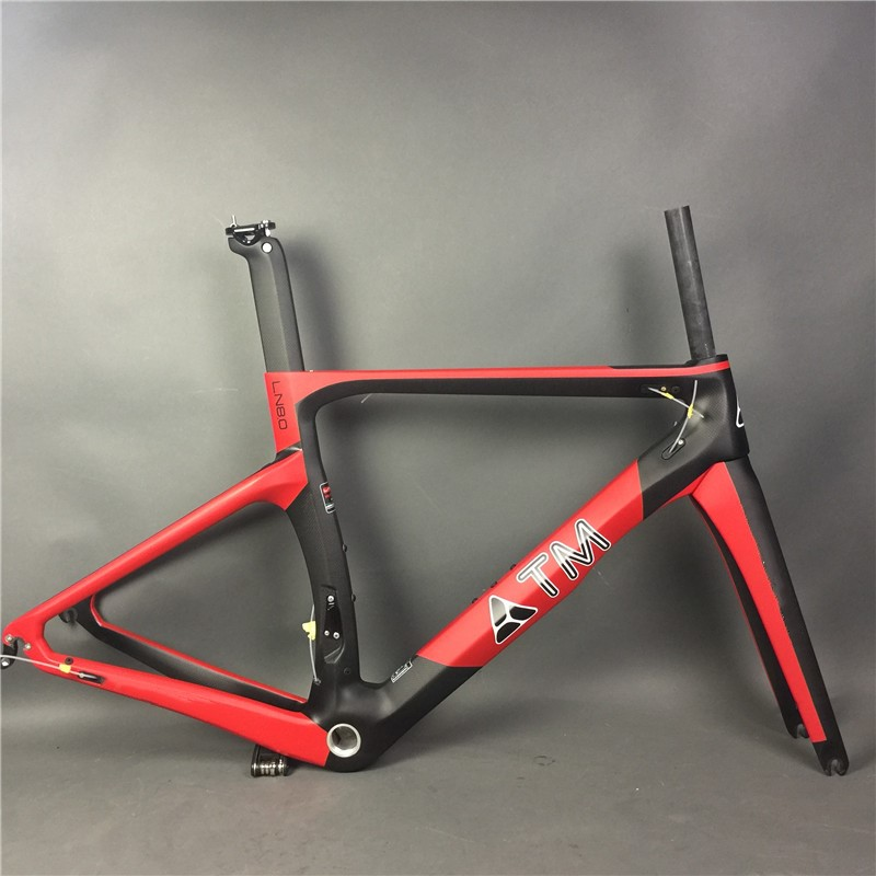 DIY painting!black red 3K glossy matte surface road bike bicycle carbon frame BB30/BB68, BSA,customzied color available