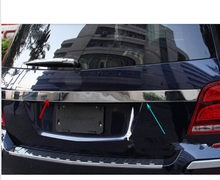 For Mercedes Benz GLK X204 2008-2015  Car Styling  Exterior Stainless Steel Rear Tail Gate Molding Trim