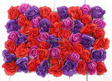 2017 SPR Free Shipping 10pcs/lot Artificial silk rose flower wall wedding backdrop flower road lead floral market decoration