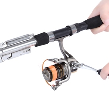 Automatic Fishing Rod Stainless Steel Fishing Rod Sea River Lake Ocean Rock Fishing Rod Stainless Steel Automatic Fish Pole(China)