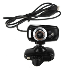 CAA-Hot USB 80M HD Webcam Web Cam Camera W Microphone 3 LED for PC Laptop Desktop Skype(China)