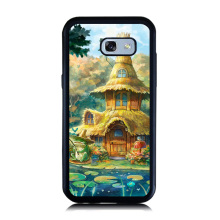 Cute Hut Castle Paint Cellphone Case Coque For Samsung Galaxy A3 A8 A5 A7 2017 2016 Soft Rubber & Hard PC Back Cover Skin Shell