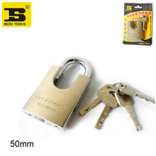 wholesale price BOSI 50mm brass padlock master lock with 4pc keys(China)