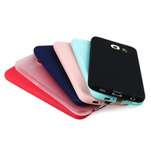 Rubber Case Cover for Samsung Galaxy S6 Silicon Solid Colors TPU Glossy Back Cover for Samsung S6 Skin