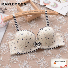 8113 sapphire Animal Prints new Underwire bras Push Up Padded Cute student young girl gather soft underwear small chest V type