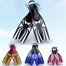 Professional Rubber Diving Fins Adjustable Swimming Training Fins High-Grade Adult Children Flippers(China)