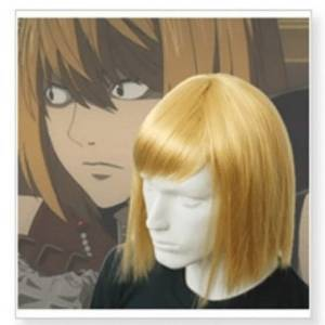 heat resistant fiber short golden Japan Anime Death Note Mello Mihael Keehl Cosplay Wig  party wigs for boy<br><br>Aliexpress