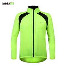 2017 Outdoor Long Sleeve Rain Jacket Cycling Rain Coat Jersey Bike Bicycle Cycling Windproof Waterproof Outdoor Sports Clothing