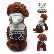 Fashion Dog Jacket Christmas Snowflake Hoodie Coat Sweater Pet Tops Puppy Supplies 5 Sizes