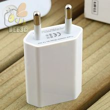 flat White EU US AC Plug USB Power Home Wall Charger Adapter for iPhone 7 6 6s plus 5 5S 4 4S Travel Power Charging Adapter 100