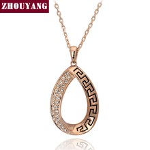 ZYN262 Classic Retro Pattern Rose Gold Color Fashion Pendant Necklace Jewelry Made with Austria Crystal Wholesale