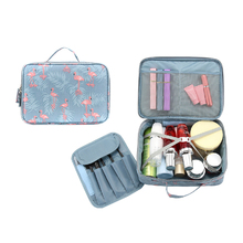 DINIWELL 1 PCS Flamingo Cactus Large Capacity Handbag Toiletry Cosmetic Box Travel Makeup Organizer For Family Storage Case(China)