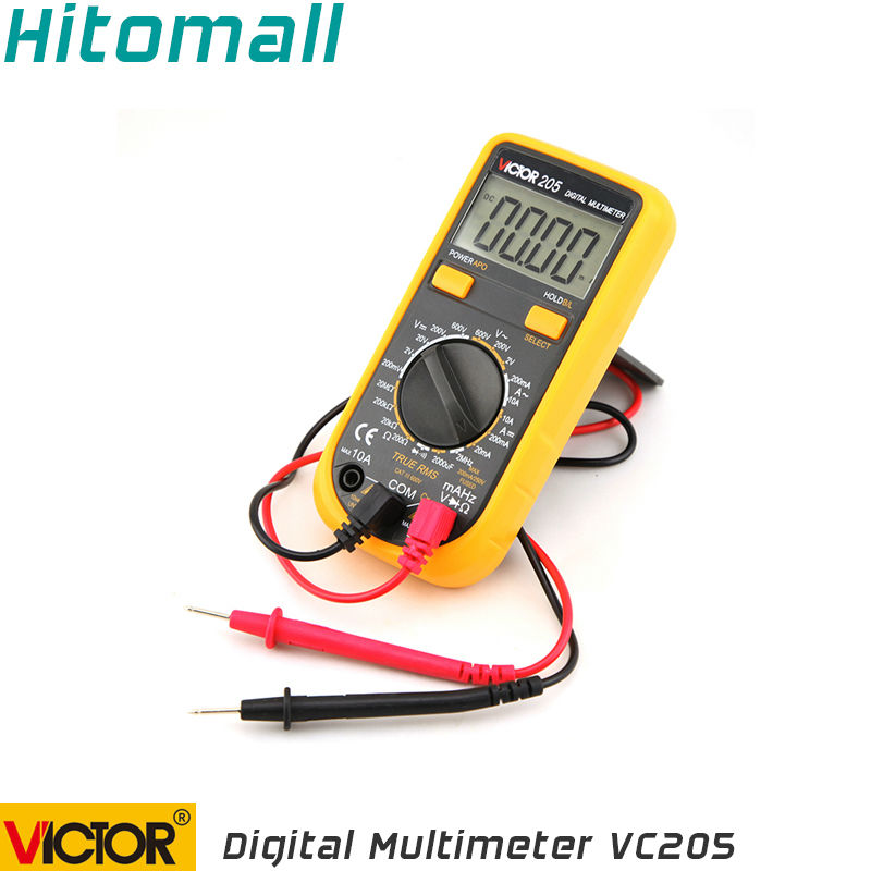 True RMS 2000 Counts  Manual Range 10A 600V   Resistance Capacitance Frequency Students Use Victor Digital Multimeter VC205<br><br>Aliexpress