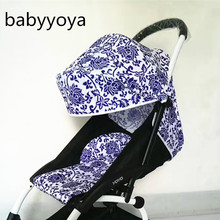 NEW textile hood Babyyoya Stroller 175 Degrees SunShade Cover for Baby time seat pad Pram Cushion Sun visor Canopy