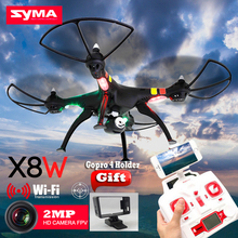 Drone Syma X8W WiFi Real Time Video and syma x8c 2.4G 4ch 6 Axis Venture with 2MP Camera Big RC Quadcopter FPV(China)
