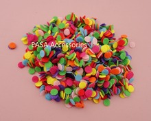 1000PCS 8mm colorful round felt pads for DIY hairbands accessories,8mm non-woven circle applique patches as center of flower