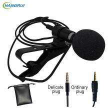 HANGRUI Clip-on Lavalier Microphone Mini Wired Condenser Microphone Voice recorder Studio Lapel microfone For Smartphone Laptop