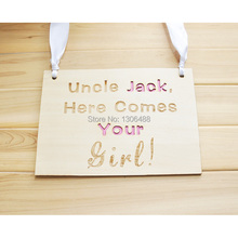 Personalized wedding sign, Chair signs, Rustic Wooden Wedding Signs, Personalized words sign, Uncle Jack, here coms your girl