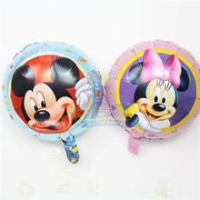 HOT 45*45cm helium balloons 50pcs/lot Minnie mylar ballons mickey mouse foil globos for baby birthday party classic toys