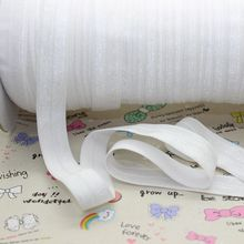 5/8 inch Free shipping High quality Fold Over Elastic FOE WHITE color ribbon headband diy decoration wholesale OEM P2125