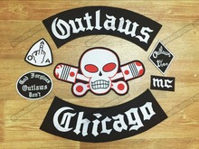 Hot Sale! Old Hells Angels Embroidered Iron On Patches Outlaw Patch Big Size for Full Back of Jacket Rider Biker Patch Free Ship