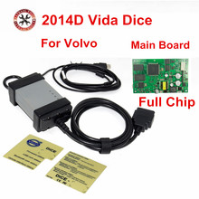 Full Chip For Volvo Vida Dice Newest 2014D Diagnostic Tool Multi-Language For Volvo Dice Pro Vida Dice Green Board Full Function(China)
