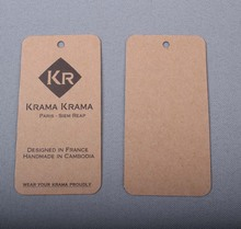 Personalized printed kraft tags paperboard Hangtag custom shape available design min 1000pcs/lot