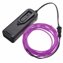 Durable Colorful 2M EL Wire Tube Rope Battery Powered Flexible Neon Cold Light Car Party Wedding Decor With Controller