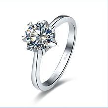 Solid 14K Gold Ring 1CT Solitaire Diamond Snowflake Ring Engagement Jewelry Hearts and Arrows Ring White Gold Superior