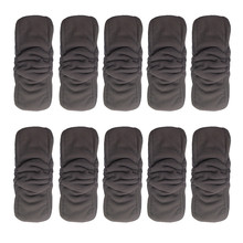 (300 pieces/lot) 2015 Free Shipping Wholesales Charcoal Bamboo Inserts with Gussets for Organic diapers(China)
