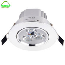 Led downlight spot led Super Bright Recessed LED Dimmable Downlight 3W LED Spot light Ceiling Lamp 85-265V 55mm hole(China)