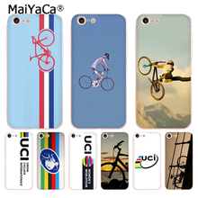 MaiYaCa Bike Stripes World Road Race Transparent TPU Soft Cell Phone case Cover For iPhone 8 8plus 4s 5s 6s 7 7plus X case coque(China)