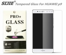 SIJIE Tempered Glass For HUAWEI p9 0.26mm Screen Protector protective front stronger 9H hardness discount with Retail Package