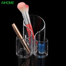 Silicone Acrylic Makeup Display Rack Storage Box Rangement Maquillage Makeup Brush Organiser Cosmetic Holder(China)