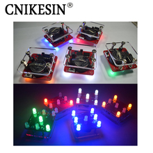 CNIKESIN DIY Swing Shaking LED Dice Kit With Small Vibration Motor Diy Electronic Kits (no battery)(China)