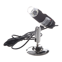200X 8LED USB Digital Microscope Endoscope Magnifier Camera Black(China)